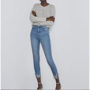 NWT Zara cuffed skinny jeans